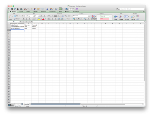 Mac Excel doc