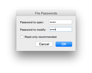 Mac Excel File password pop up 2