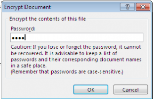 Windows Excel password pop up