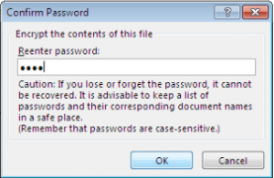 Windows Excel password pop up 2