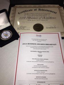 Alpharetta 2014 Business Award