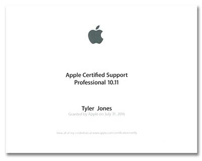 Apple Certified Support Designation