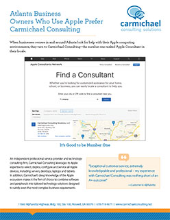 Atlanta Business Owners Who Use Apple Prefer Carmichael Consulting